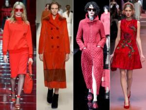 Colores de moda rojo
